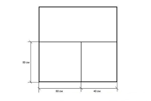 Схема разрезания листа пенопласта для инкубатора