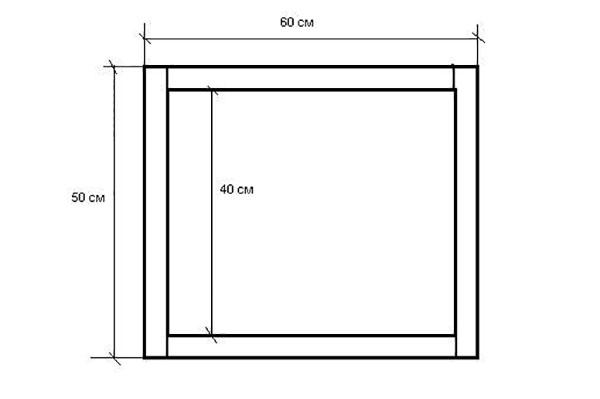 Схема склеивания кусков пенопласта для инкубатора