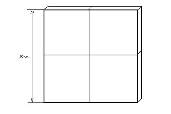 Схема листа пенопласта, разрезанного на части